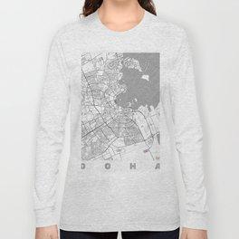 Doha Map Line Long Sleeve T-shirt