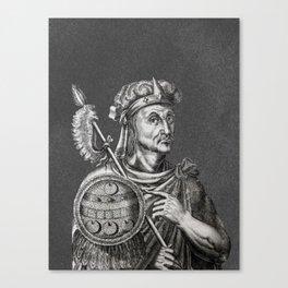 Moctezuma II. The Last Aztec Emperor Canvas Print