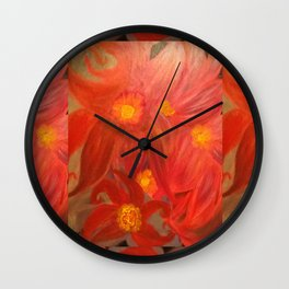 Floral Collage Wall Clock