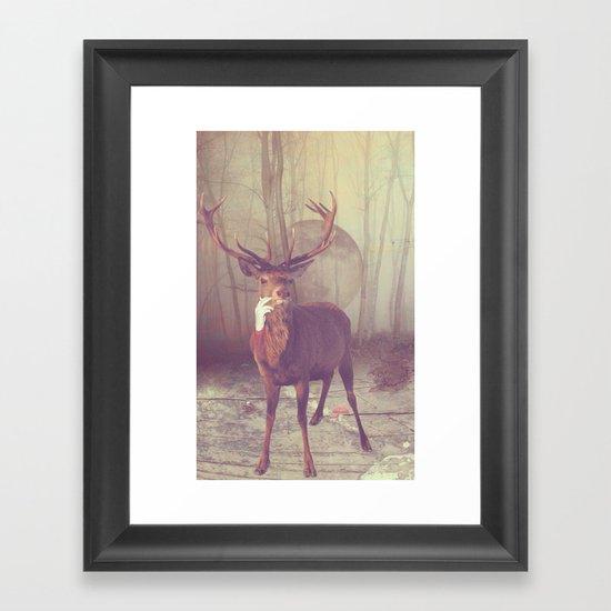 Fairy tale : deer Framed Art Print