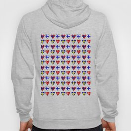 Flags of scandinavia - finland, denmark,swede,norway Hoody