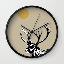 The Reindeer named Caribou, northern Quebec Wall Clock