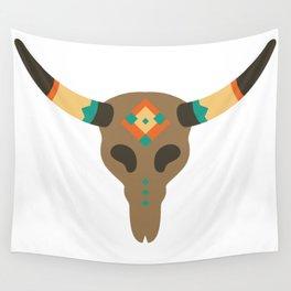 Vintage Bull Skull Wall Tapestry