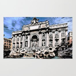 Fontana di Trevi, Rome Rug