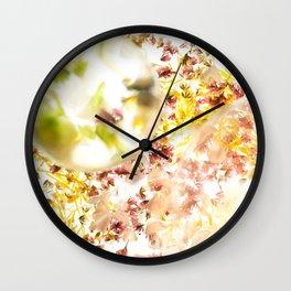 Botanical Blueprints Wall Clock