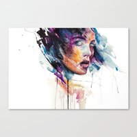 glass Canvas Prints featuring sheets of colored glass by agnes-cecile