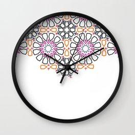 Moroccan Mosaic Colorful 2 Wall Clock