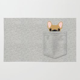 Pocket French Bulldog - Fawn Rug