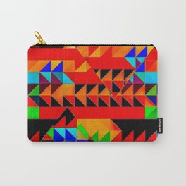 Aztec Pyramid Inspired Design Carry-All Pouch