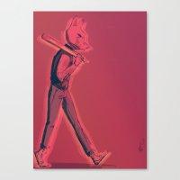hotline miami Canvas Prints featuring Hotline Miami by Josh Fregoso