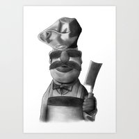 swedish Art Prints featuring Swedish Chef by axemangraphics