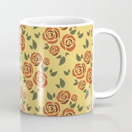 rustic rose on dusky yellow Coffee Mug