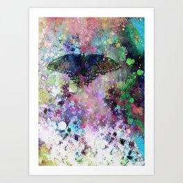 Butterfly abstract art by Ann Powell Art Print
