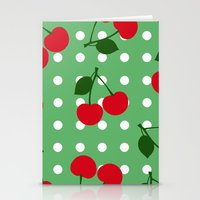 cherry Stationery Cards featuring cherry by vitamin