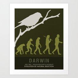 Science Posters - Charles Darwin - Biologist, Naturalist Art Print