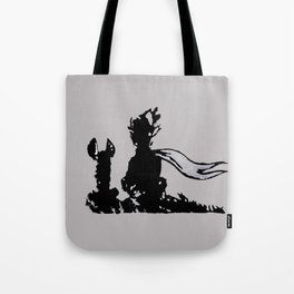 The little prince and the fox - stencil for the LIFE CURRENT WALL series Tote Bag