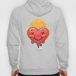 Cute Burning Heart for Valentine's Day Hoody