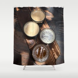 Flight of Beer Shower Curtain