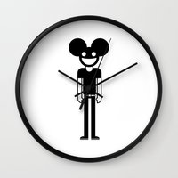 deadmau5 Wall Clocks featuring Deadmau5  by Band Land