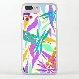 Cream Wattle Clear iPhone Case