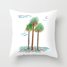 Sabal Palms Of The Bahamas Throw Pillow