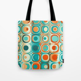 Orange and Turquoise Dots Tote Bag