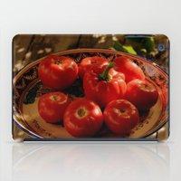 vegetables iPad Cases featuring Red vegetables by Svetlana Korneliuk
