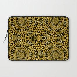3-D Look Golden Kaleidoscopes Mandalas 1 Laptop Sleeve
