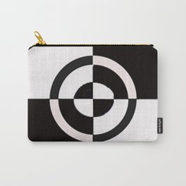black & white check Carry-All Pouch