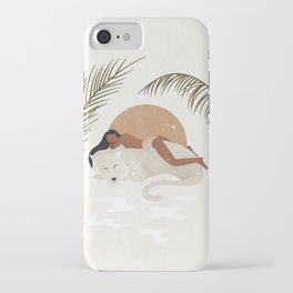 A tiger doesn't lose sleep overthe opinion of sheep iPhone Case