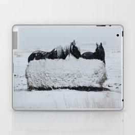 A horses snow day Laptop & iPad Skin