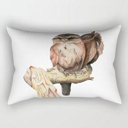 Owl Siblings Watercolor Painting Rectangular Pillow