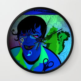 Candy Colored Frown Wall Clock