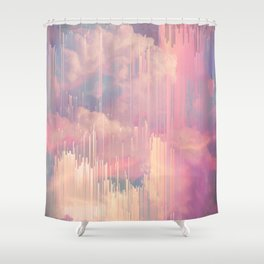 Candy Glitched Sky Shower Curtain