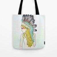 hunting Tote Bags featuring Hunting // by Lukka