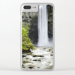 Taughannock Falls Waterfall Clear iPhone Case