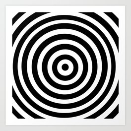 Circle Illusion Art Print