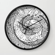 Cloud Dragon Wall Clock