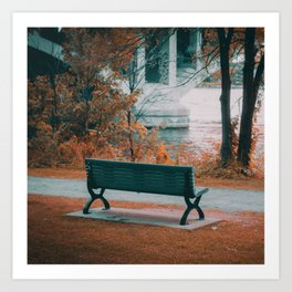 A Bench for your Thoughts Art Print