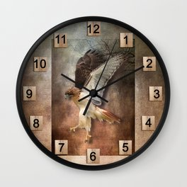 Evening Hawk Wall Clock