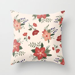 Dorthy Florals Throw Pillow