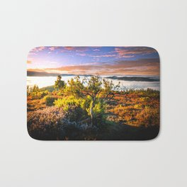 morning lights in the Basque mountains Bath Mat