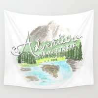 "pixar Wall Tapestries featuring ""Adventure is Out There!"" - Up, Pixar by astoldbycaro"