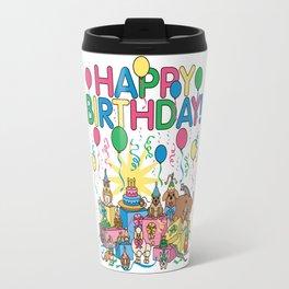 Birthday Party Animals Travel Mug