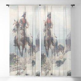 "William Leigh Western Art ""The Bear Tracker"" Sheer Curtain"