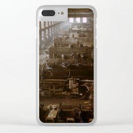 Vintage Railroad Locomotive Shop - 1942 Clear iPhone Case
