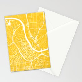 Nashville, Tennessee, City Map - Yellow Stationery Cards