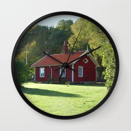 Swedish Cottage  Wall Clock