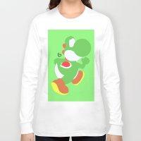 yoshi Long Sleeve T-shirts featuring Yoshi(Smash) by ejgomez