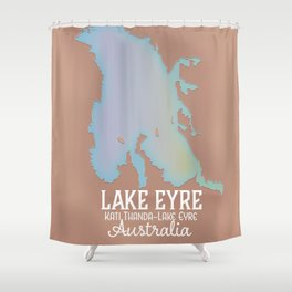 Lake Eyre Australia map poster Shower Curtain